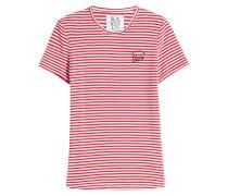 Gestreiftes T-Shirt mit Baumwolle