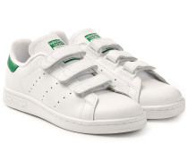 Leder-Sneakers Stan Smith mit Klettverschluss