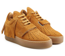 Sneakers Caribo aus Veloursleder mit Fransen