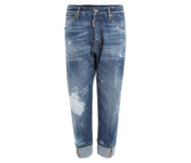 Baggy Jeans im Distressed-Look