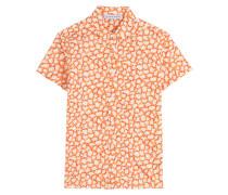 Gemustertes Kurzarm-Hemd aus Baumwolle