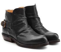 Ankle Boots aus Leder mit Schnalle