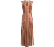 Kleid mit Samt und Spitze