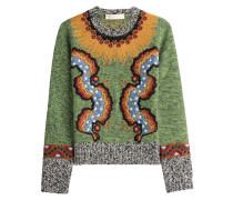 Bestickter Pullover mit Wolle und Kaschmir