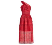 One-Shoulder-Kleid mit Lochmuster