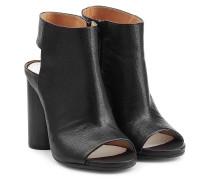 Open-Toe-Boots aus Leder