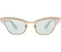 Cat-Eye-Sonnenbrille mit Schmucksteinen