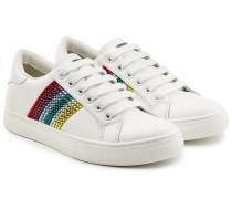 Sneakers aus Leder mit Décor