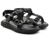 Sandalen aus Leder mit Rockstud-Nieten