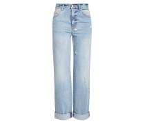 Cropped Wide Leg Jeans aus Baumwolle