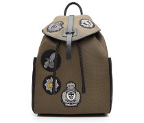 Canvas-Rucksack mit Patches