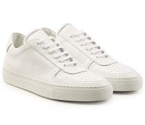 Sneakers aus Leder mit Perforierung