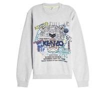Besticktes Baumwoll-Sweatshirt