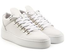 Sneakers aus Leder mit Plateausohle