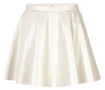 Flared-Skirt aus Leder