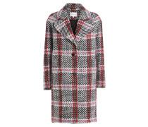 Karierter Mantel mit Schurwolle