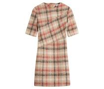 Kariertes Drape-Dress aus Wolle und Alpaka