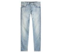 Biker Jeans mit Ripp-Details