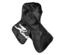 Bedruckter Schal aus Webpelz