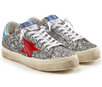 Sneakers May aus Leder mit Glitter Finish