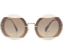 Runde Sonnenbrille mit Schildpatt-Detail