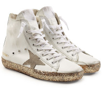 High Top Sneakers Francy aus Leder mit Glitter