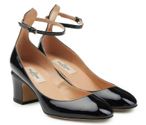 Lackleder-Pumps Tan-Go