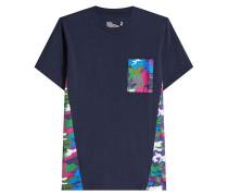 T-Shirt aus Baumwolle mit gemusterten Einsätzen