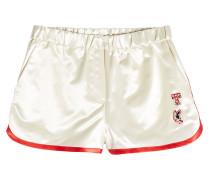 Bestickte Shorts aus Satin
