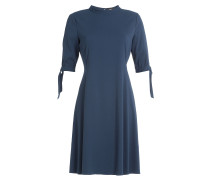 Crêpe-Kleid mit Schleifen