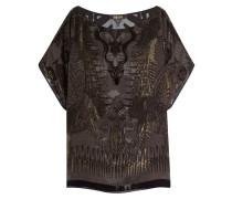 Gemustertes Shirt mit Chiffon und Seide