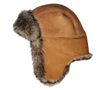 Mütze aus Schafsleder mit Lammfellpelz