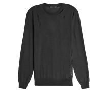 DIstressed-Pullover aus Wolle und Seide