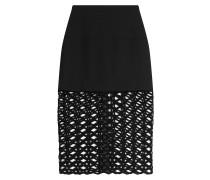 Midi-Skirt mit Cut-Out-Saum