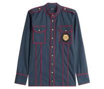 Paspeliertes Hemd aus Baumwolle