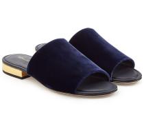 Flache Sandalen aus Samt