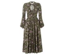 Bedrucktes Midi-Dress mit Cut-Out