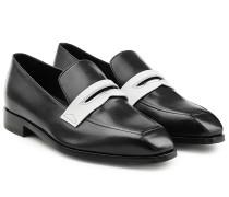 Loafer aus Leder im Two-Tone-Look
