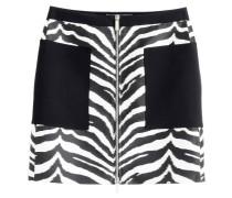 Mini-Skirt mit Zebra-Print