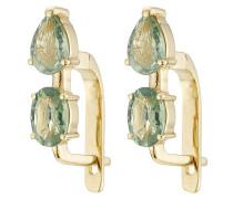 Ohrringe aus 18K Gelbgold mit Saphir