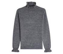 Pullover aus Wolle mit Rüschen