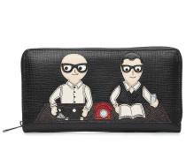 Portemonnaie aus Leder mit Applikation