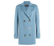 Doppelreihiger Mantel aus Wolle und Kaschmir