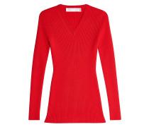 Rippstrick-Pullover aus Wolle