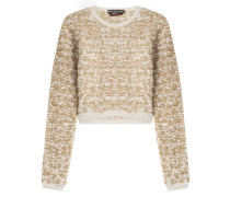 Cropped Bouclé-Pullover