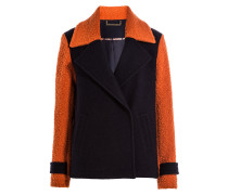 Jacke im Color-Block-Look mit Wolle