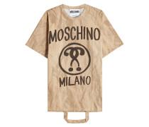 Oversize Shirt in Papier-Optik