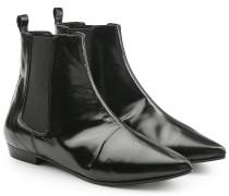 Spitze Chelsea Boots aus beschichtetem Leder