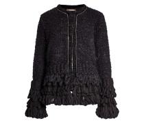 Verzierte Jacke mit Mohair und Wolle
