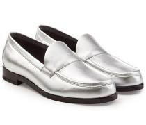 Loafers aus Metallicleder